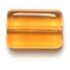 Glass Bead Flat 12x8mm Topaz Rectangular Shape - Strung